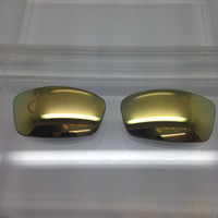 Custom Arnette AN Rage 4077 Champagne Gold Mirror Non-Polarized Lenses (lenses are sold in pairs)