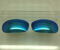 Costa Del Mar Compatible Custom Black Fin Blue Mirror Polarized Lenses with backside AR coating (lenses are sold in pairs)