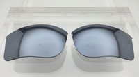 Aftermarket Custom Oakley Flak Jacket XLJ Replacement lenses Silver Mirror Polarized Lens HIGH CLARITY