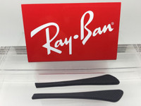 Authentic Rayban Ear Socks/ Temple Tips for Eye Glasses RB 6275 & 7017 Black w/ Pointed End
