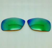 Custom Electric Big Beat Grey w/ Brown with GREEN Mirror Polarized Lenses (lenses are sold in pairs)