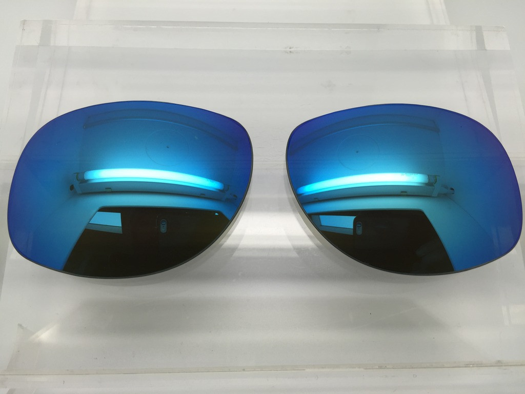 07f9d388a25 ... Custom Rayban RB 3387 SIZE 67 Blue Mirror Polarized Lens Pair. Image 1.  Loading zoom