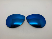Custom Oakley Feedback Blue Mirror Polarized Lenses (lenses are sold in pairs)
