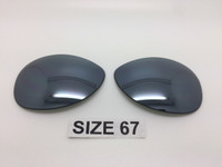 Custom Made RB 3386 Silver Mirror Polarized Size 67 Lenses