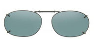 FOR J. RUSSEL DAVIS Clip-On Size Rec 15-54 Gunmetal Green