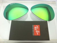 Authentic Rayban 3025 Aviator Polarized Green Mirror Coating Lenses SIZE 55