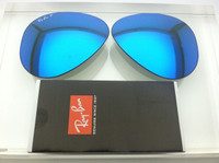 Authentic Rayban 3025 Aviator Polarized Blue Mirror Coating Lenses SIZE 55
