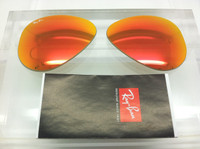 Authentic Rayban 3025 Aviator Orange/Red Mirror Coating Lenses SIZE 55