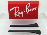 Authentic Rayban Ear Socks/ Temple Tips for Eye Glasses RB 6317 Black w/ Square End
