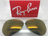 Authentic Rayban 3025 Aviator Dark Gold Mirror Coating Lenses SIZE 58