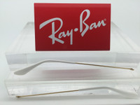 Authentic Rayban 3025 Aviator Gold Replacement Temples Length 140 w/ White Tips