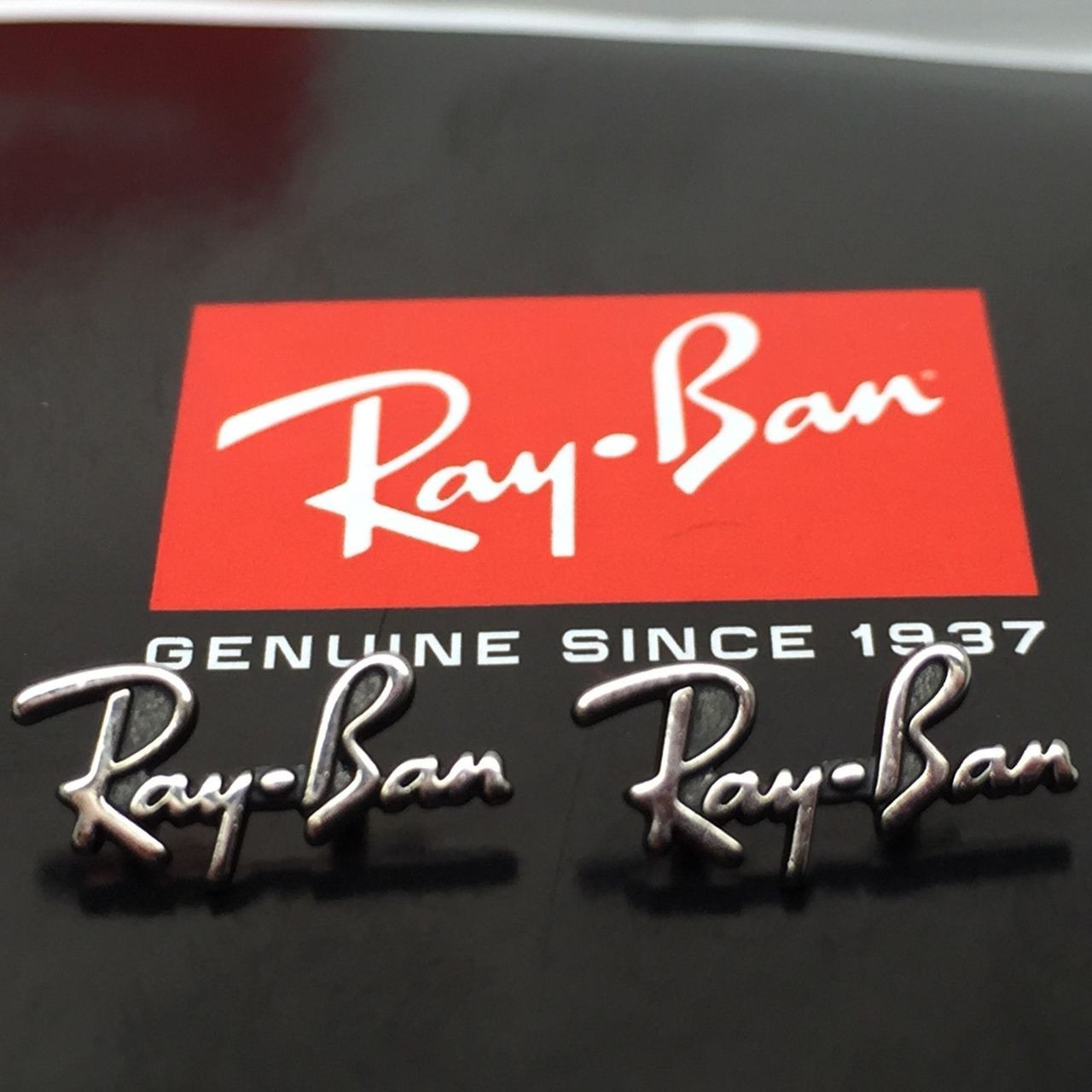 980abc1fd8d Authentic Rayban Replacement Icons   Temple Logos for RB 2140 ...