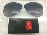 611fcf9690 Authentic Rayban RB 3025 Aviator Blue   Grey Gradient Polarized Lenses SIZE  55
