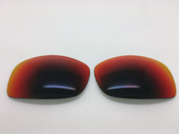 Arnette Manifesto 4068 Custom Red/orange Slight Mirror (grey base) Lens  Polarized Lenses (lenses are sold in pairs)