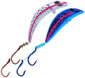 KK-435H Kokanee Killer UV Holographic Blade with a Pink Stripe Size 1 and Size 2