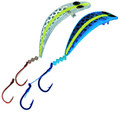 KK-434H Kokanee Killer UV Holographic Blade with a Chartreuse Stripe Size 1 and Size 2