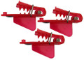 4501 Roto Chip Bait Head Unrigged - Red Big Fin - 3 pack