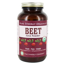 Sweet, smooth, utterly delicious, and alive with vibrant color! This freeze-dried Organic Beet Juice Powder not only tastes good but is also overflowing with potent phytonutrients like naturally occurring nitrates, betaine, and phenols. European heirloom beets are juiced and dried to yield a high-density juice powder for optimal results. Experience this wellness powerhouse — fresh, pure, simple!