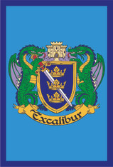 """12""""x18"""" Garden Flag with Excalibur Logo"""