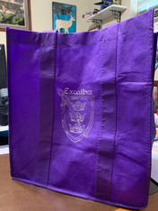 Excalibur logo purple small poly bag