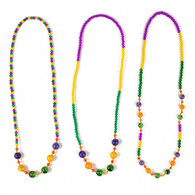 "Hand Strung Glass Beads 31"" ppg"