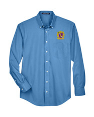 Embroidered Men's Long Sleeve Oxford