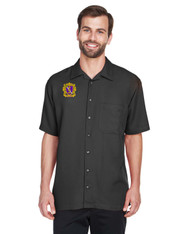 Embroidered Men's Short Sleeve Camp Shirt