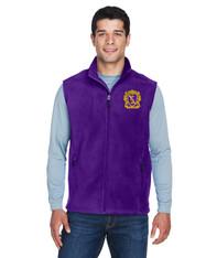 Embroidered Fleece Men's Zipper Vest