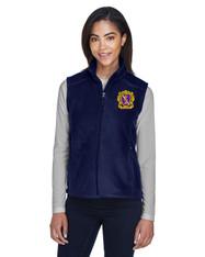 Embroidered Fleece Women's Zipper Vest