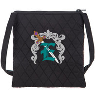 Embroidered Cross Body Quilted Bag