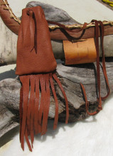 Cherokee made Deer Leather Medicine Bag