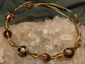 Coffee Agate Wire Work Bracelet BR153