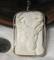 Sterling Silver Carved Bone Pendant SSP103