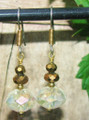 Bronze & AB Crystal Earrings ER114