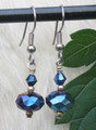 Blue Metallic Crystal Earrings ER110