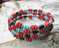 Black, Turquoise, & Red Wrap a Round BR103