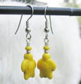 Yellow Turtle Earrings