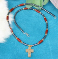 Autumn Jasper Cross Necklace