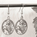 Oval Unicorn Earrings