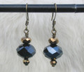 Antique Brass & Crystal Earrings ER264