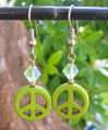 Peace Symbol Earrings ER318