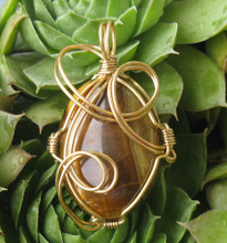 Tigers Eye with Non Tarnish Brass