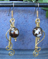 Coffee Agate Coil Earrings