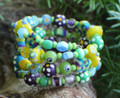 Blue, Yellow & Purple Fun Bracelet