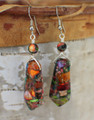 Rainbow Sea Sediment Jasper Earrings