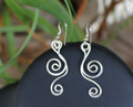 Dangle Scroll Earrings Total length including earwires 1 7/8""