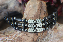 Native Bracelet w/ Black Horn & Hematite