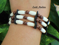 Native Bone Bracelet w/ Jasper