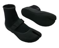 Split Toe Booties - Black (D77)