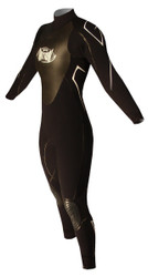 Women's Past Season 4/3mm Charger Fullsuit - Black (F65)